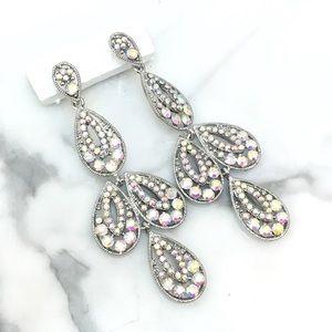 Cherryl's Jewelry - AB Crystal Event Chandelier Earrings